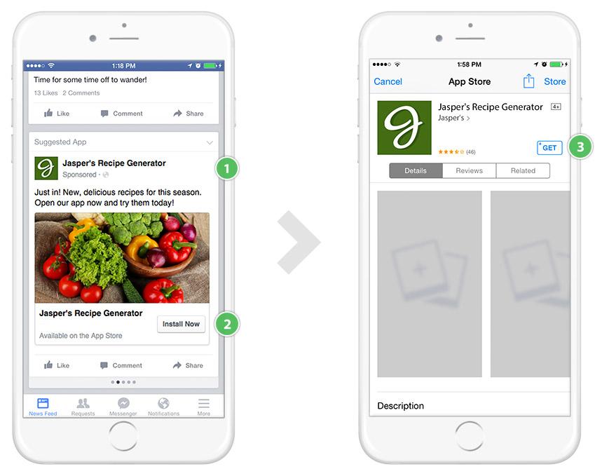 การสร้างโฆษณาแอพบน Facebook | รับทำเว็บไซต์